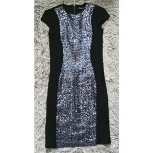 Suzy Shier Black Collection Sequin Dress XS